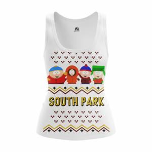 Женская Майка Новогоднее New Year South Park Сауз Парк - w tan 1482275388 441