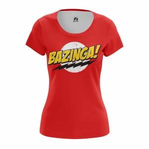 Женская футболка Bazinga Бугагашеньки Базинга - w tee bazinga 1482275254 78