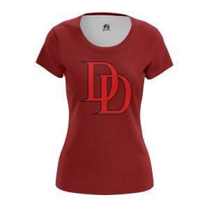 Женская футболка Daredevil logo Сорвиголова Нэтфликс - w tee daredevillogo2 1482275286 168
