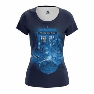 Женская футболка Doctor Who Доктор Кто Тардис - w tee doctorwho 1482275300 206