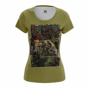 Женская футболка Fight the Dead Ходячие Мертвецы - w tee fightthedead 1482275313 239