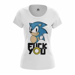 Женская футболка Игры Fock you Еж Соник - w tee fockyou 1482275315 247