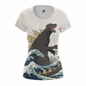 Женская футболка Годзилла Динозавр Монстр - w tee godzilla 1482275323 267