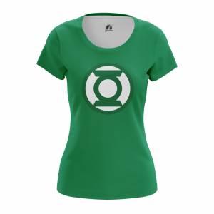 Женская футболка Зелёный фонарь Эмблема Логотип DC Комикс - w tee greenlanternlogo 1482275327 279