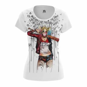 Женская футболка Harley Quinn Харли Квин DC Комикс - w tee harleyquinn3 1482275333 293