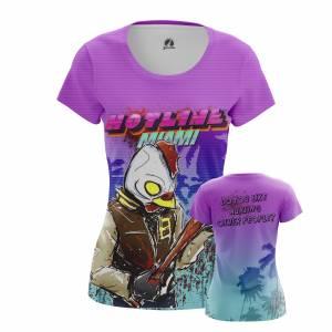 Женская футболка Hotline Miami Игра Хотлайн Майами - w tee hotlinemiami 2 1482275338 311