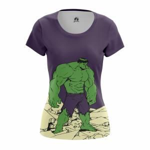 Женская футболка Hulk Халк - w tee hulk 1482275339 314