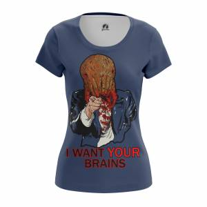 Женская футболка I want your brains Халф Лайф - w tee iwantyourbrains 1482275342 323