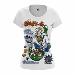 Женская футболка Jims cereal Червяк Джим Сега Игры - w tee jimscereal 1482275352 346
