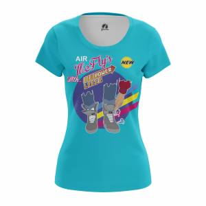 Женская футболка Марти МакФлай Назад в Будущее's Power Laces - w tee mcflyspowerlaces 1482275374 403