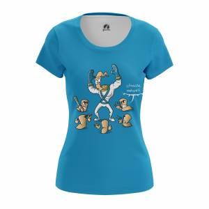 Женская футболка Mutant Jim Червяк Джим Сега Игры - w tee mutantjim 1482275385 431