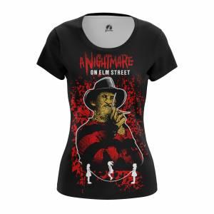 Женская футболка Nightmare on elm street - w tee nightmareonelmstreet 1482275390 445