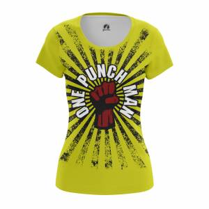 Женская футболка Ванпанчмен Атрибутика Мерч - w tee onepunchman 1482275397 463
