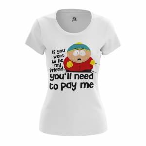 Женская футболка Южный Парк Pay cartman - w tee paycartman 1482275398 475