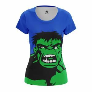 Женская футболка Поп арт Pop Hulk Халк Марвел Комикс - w tee pophulk 1482275404 487