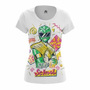 Женская футболка Stay in School Могучие Рейнжеры - w tee stayinschool 1482275437 578