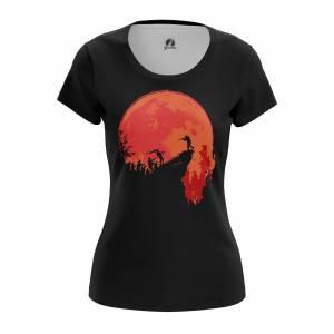 Женская футболка Зомби The hunt - w tee thehunt 1482275446 603