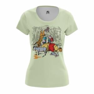 Женская футболка Мульты The Pooh - w tee thepooh 1482275448 609