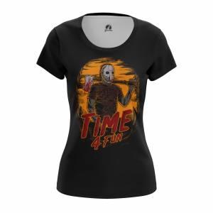 Женская футболка Time 4 fun Пятница Тринадцатое - w tee time4fun 1482275450 617