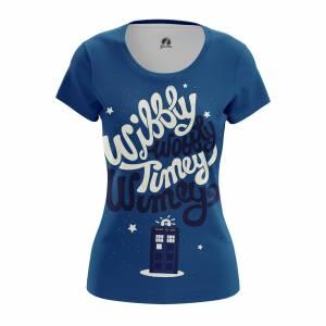 Женская футболка Timey Wimey Доктор Кто - w tee timeywimey 1482275450 618
