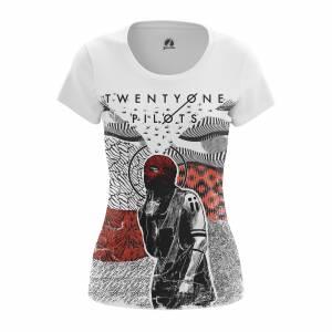 Женская футболка Twenty One Pilots Группа Twenty Pilots - w tee twentyonepilots4 1482275458 636