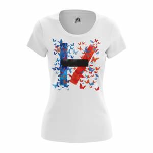 Женская футболка Twenty One Pilots Группа Twenty one pilots logo - w tee twentyonepilotslogo 1482275457 634