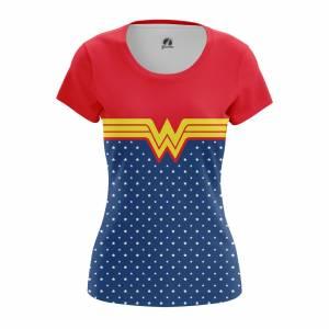 Женская футболка Wonder Woman suit Чудо-женщина DC Комикс - w tee wonderwomansuit 1482275470 672