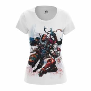 Женская футболка Дефстроук и Харли Квинн DC Комикс - w tee 1482275296 195