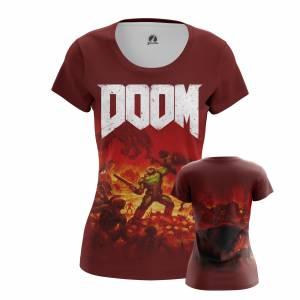 Женская футболка Игры Doom Дум Игра - w tee 1482275303 209