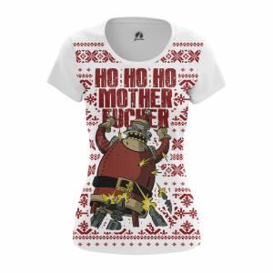 Женская футболка Новогоднее Ho ho ho Футурама Санта Клаус - w tee 1482275336 304