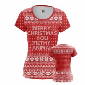 Женская футболка Новогоднее Merry Christmas Рождество - w tee 1482275375 409