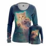 Женский Лонгслив Юмор Интернет Space Kitten - wnjuurkh 1494488206
