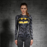 Female Longsleeve Rashguard Superhero Gym Crossfit Workout 2 1