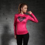 Female Longsleeve Rashguard Superhero Gym Crossfit Workout 7 1