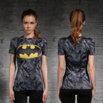 Female-short-sleeve-Rashguard-Superhero-Gym-Crossfit-Workout-2