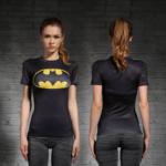 Female-short-sleeve-Rashguard-Superhero-Gym-Crossfit-Workout-7