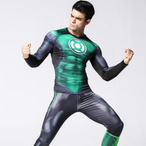 Рашгард костюм Зелёный Фонарь для зала - Green Lantern Set Suit Rashguard Longsleeve Crossfit buy