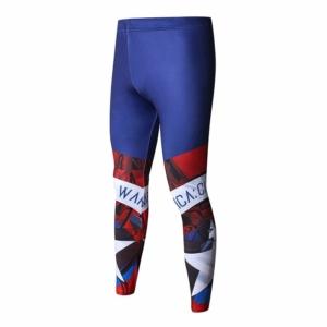 Леггинсы Капитан Америка Штаны штаны для зала - Rashguard Leggings Compressions Pants 2 buy