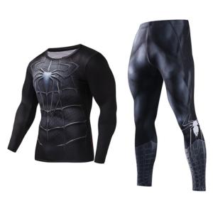 Рашгард костюм Человек-Паук Чёрный - Rashguard Suit Compressions Set Crossfit GYM 3 buy