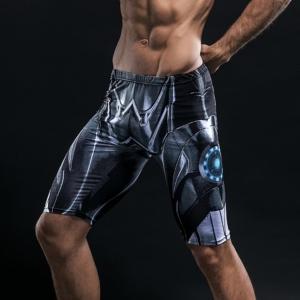 Спортивные шорты Чёрный Железный Человек - Shorts Rashguard Leggings Pants Compression Suit 1 buy