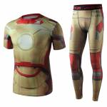 Superhero Gym Suit Marvel DC Rashguard Pants Top T shirt 1 1
