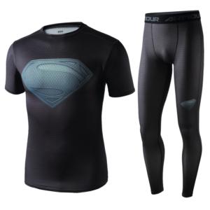 Superhero Gym Suit Marvel DC Rashguard Pants Top T shirt 2 1