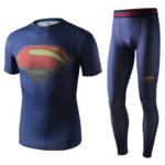 Superhero Gym Suit Marvel DC Rashguard Pants Top T shirt 3 1
