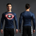 Superhero Rashguard Gym Workout Crossfit DC Marvel Emblem Comics 2 1 1