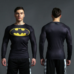 Superhero Rashguard Gym Workout Crossfit DC Marvel Emblem Comics 6 1 1