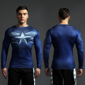 Superhero Rashguard Gym Workout Crossfit DC Marvel Emblem Comics 7 1 1