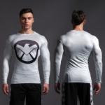 Superhero Rashguard Gym Workout Crossfit DC Marvel Emblem Comics 8 1 1