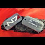 Купить Москва СПБ Киев Алматы Кулон / Подвеска: Mass Effect Жетон N7 Игра