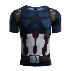 Рашгард футболка Капитан Америка - 3 3D 31