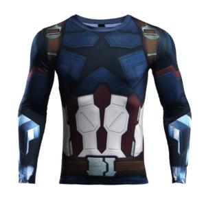 Рашгард с длинным рукавом Капитан Америка - 3 3D 7